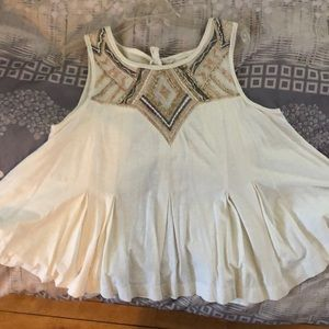 Free People open back shirt- never worn